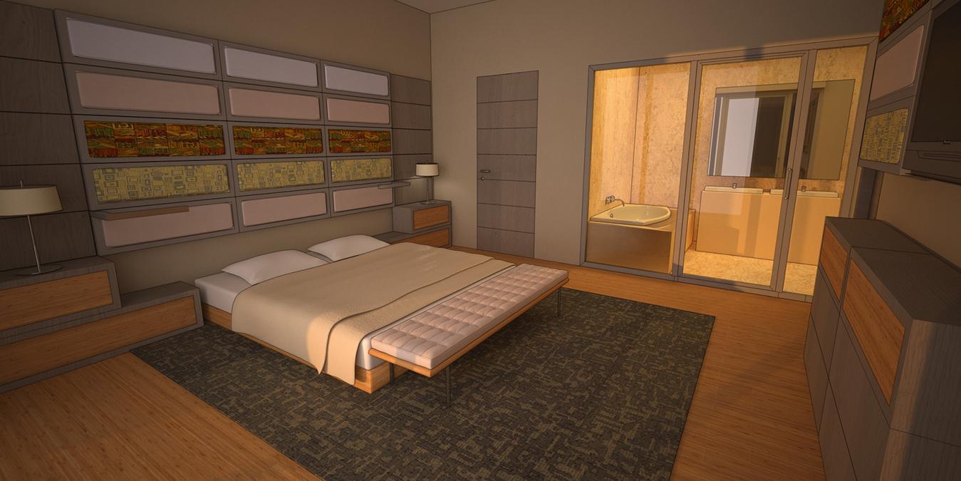 Une des chambres du Pefaco Hotel Prestige Brazzaville 5* · Congo